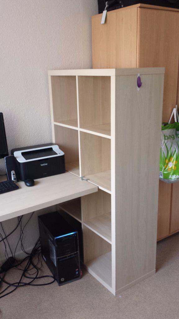 like new ikea kallax desk shelf combo in clapham common london gumtree. Black Bedroom Furniture Sets. Home Design Ideas