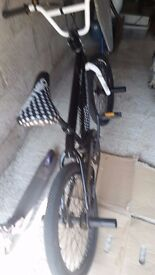 kids bmx stunt bike, used in very good condition, been kept in garage, checked it over works fine