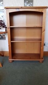 Wooden book shelf unit. 26w x 11d x 37h inches. VGC. buyer collects Warlingham