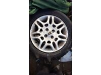 Rover 25 4x alloy wheels 195/55/15 with 3 new tyres