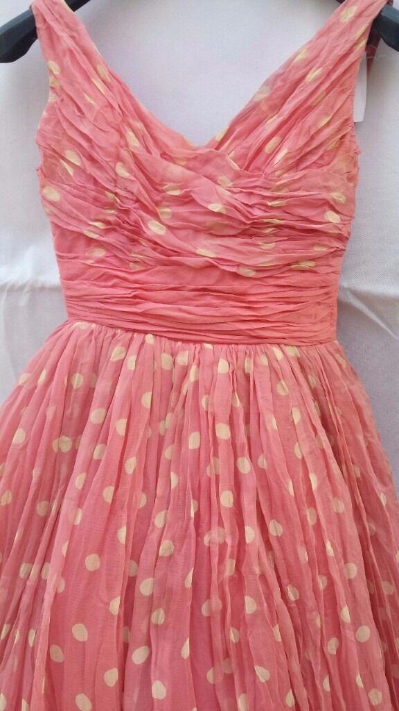 Jean Allen London Vintage Silk Designer dress - 5 lined in beautiful ...