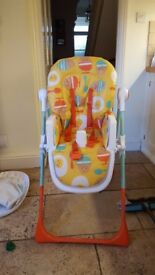 Cosatto noodle supa highchair (Egg and Spoon design) 9months old very good condition