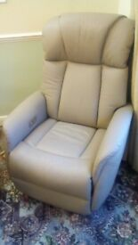 Leather recliner as new
