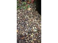 10 bags of gravel (around 15kg per bag)