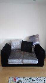 Two Seater Velvet Crush sofa in perfect condition for sale