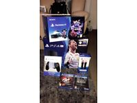 PS4 pro fifa 18 + ps vr worlds bundle + extras brand new sealed!!!!