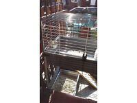 Two tier Pet cage, suitabke small rabbit, guinea pig, kitten