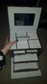 Leopard print jewellery box