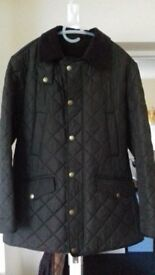 A brand new male winter Barbour jacket, size M, in brown, Brandon series
