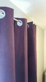 Purple dunelm mill blackout curtains