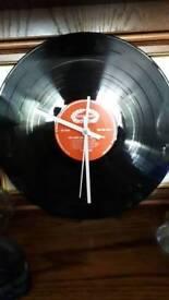 Retro Vinyl Record clock