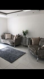 2 x 3 Seater Sofa plus Cuddler chair Perfect Condition
