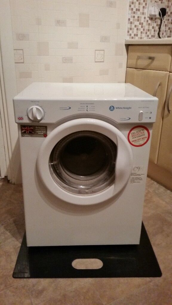 White knight 3kg tumble dryer with stickers like brand new can deliver for a small charge