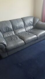 3 seater leather effect sofa