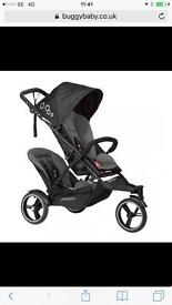 Phil & Ted Dot Double Pushchair with Extras (NEW, BOXED)