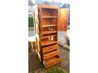 FREE wooden wardrobe ready to collect ASAP