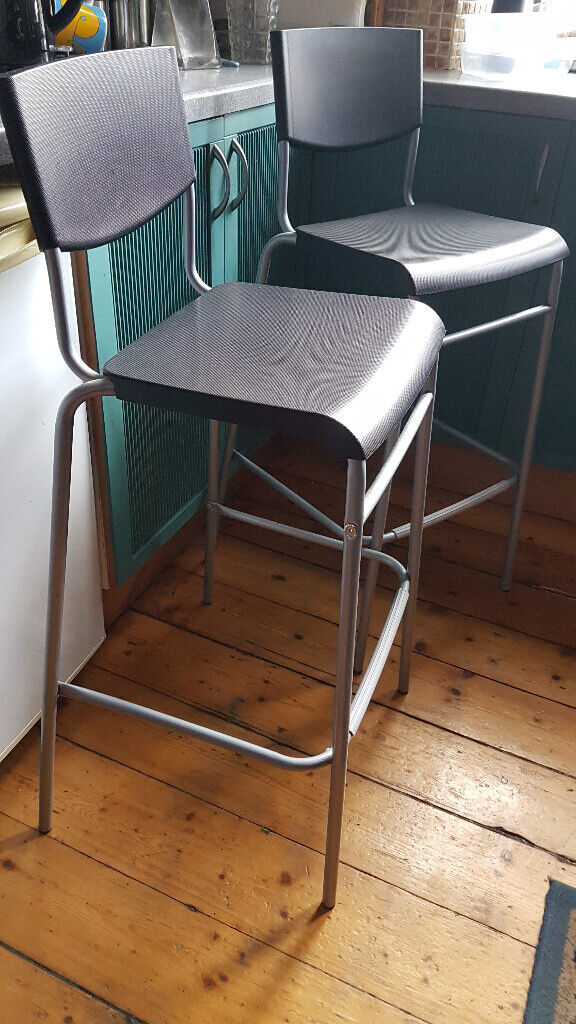 Astounding Bar Kitchen Stools Ikea Stig Backrest Black Silver 74Cm Free Delivery 5 Miles Glasgow In Southside Glasgow Gumtree Gmtry Best Dining Table And Chair Ideas Images Gmtryco