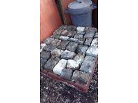 Reclaimed mixed cobblestones