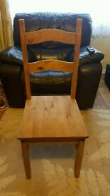 4 Mexican Pine Dining Chairs