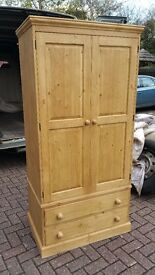 Solid Double Pine Wardrobes handmade from £199 delivered