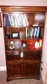 Beautiful walnut style bookcase