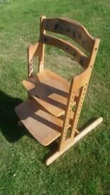 Kids wooden high chair