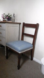 Grand hall chair. Shabby chic potential. Solid wood and spring sprung!