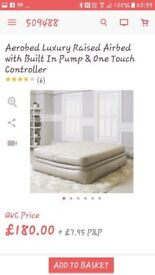 Aerobed luxury raised airbed with built in pump and one touch controller