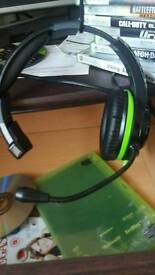 Xbox 360 2 controllers headset and 20 games