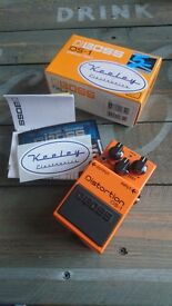 Keeley modded Boss DS1 Distortion effects pedal.