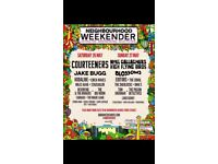 2 Tickets Sat 26th May The courteeners, Jake bug, Neighbourhood festival