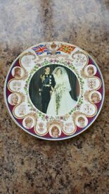 Commemorative plate 'Charles and Diana marriage'