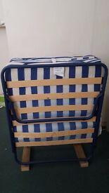 metal frame wooden slats guest folding bed single