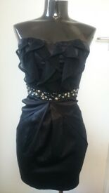 BNWT BLACK SEXY AX PARIS BODYCON DRESS SEQUIN DETAIL SIZE 12 RRP £32.00 BARGAIN