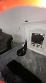 Black high gloss side tables brand new in box ordered wrong colour and cannot return