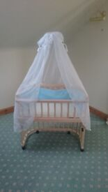 Beautiful Baby Cot with Canopy - very good condition - bargain!