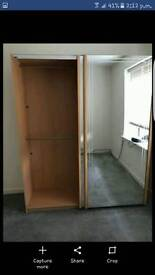 Mirrored wardrobe for sale 7ft high 6ft wide 2ft deep