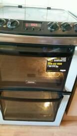 Zanussi Ceramic Double Oven Electric Cooker - Model ZCV550MXC - Black £150