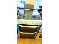 BELLING white 60Cm Gas Cooker in Ex Display which may have minor marks or blemishes.