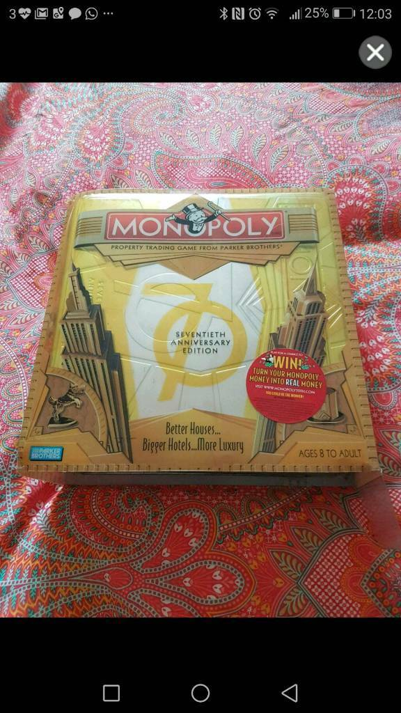 70th Limited edition Monopoly Game