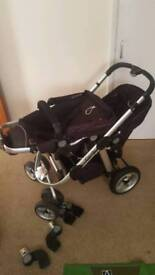 Icandy apple to pear double buggy/pushchair