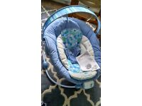 Blue bouncy bright star cradle