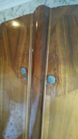 Vintage walnut wardrobe 1940's
