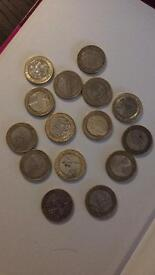 Range of £2 coins to collect. Rare.