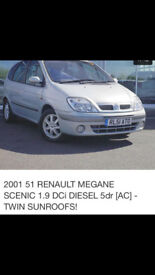 TURBO DIESEL 1.9 DCI TWIN SUNROOF DRIVES U ANYWHERE U WANT UR LIFE TIME BARGAIN BICYCLWE PRICE £210