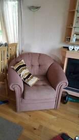 Corner suite 1 chair 1 rocker from static caravan