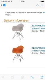 Modern retro 4 chairs