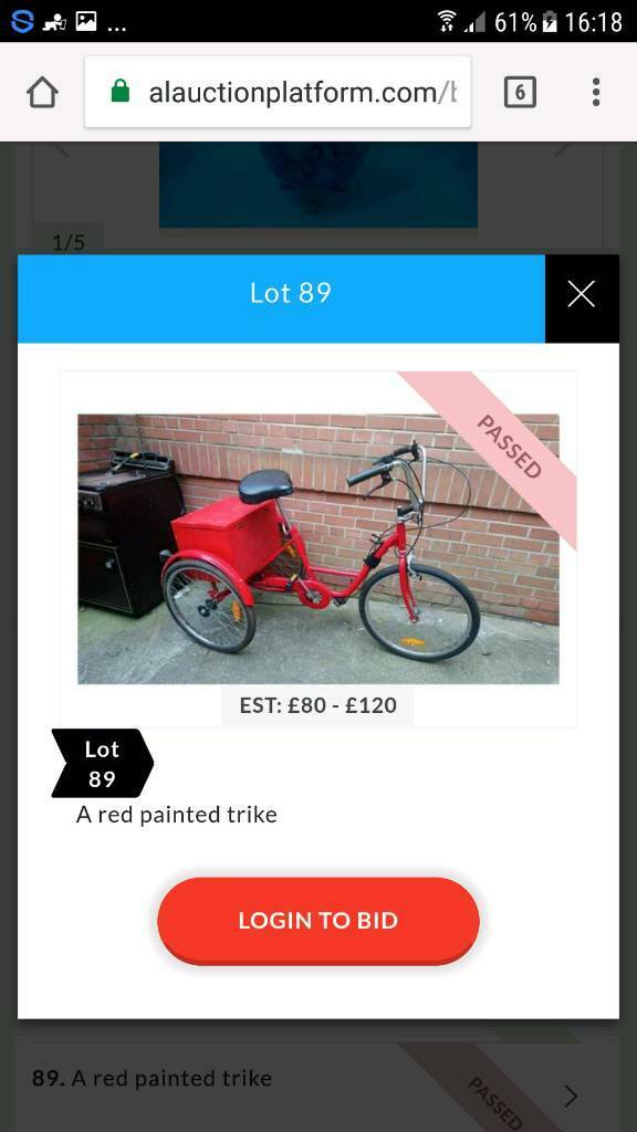 Red painted trike bikein Sunderland, Tyne and WearGumtree - Red trike bike excellent condition