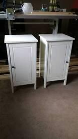 2x Ikea Hemnes bedside cupboards