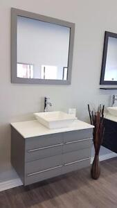 "36"" Wall Mounted Vanity- Complete Set"